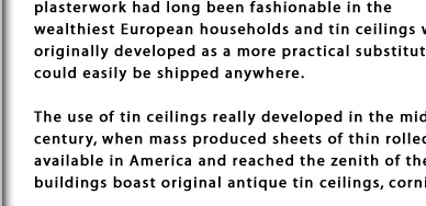 History Of Tin Ceilings